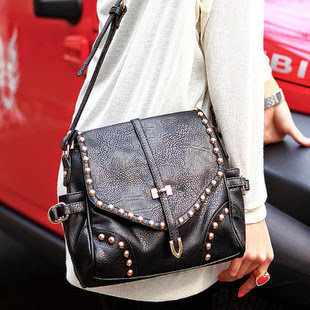 brand fashion women handbag rivet desigual vintage bag